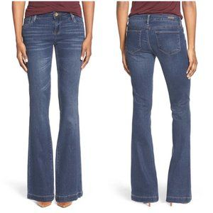 Kut From The Kloth Chrissy Flare Jeans 4 Dark Wash
